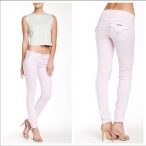 Hudson Collin Flap Skinny Jean in Lilac/Purple